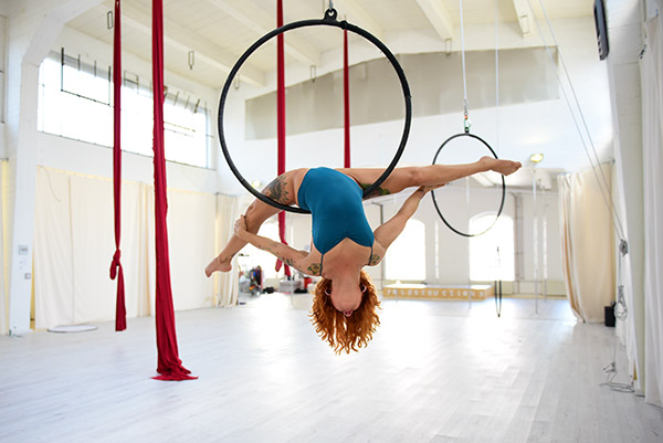 Yatzin Kosom Aerial Hoop.