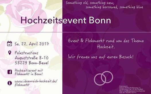 Hochzeitsevent mit Flohmarkt in Bonn