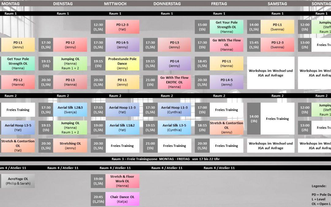 Neuer Kursplan Oktober 2017