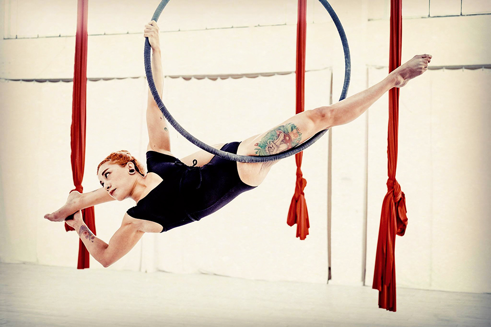 Aerial Hoop Flow Workshop 14.04.2018