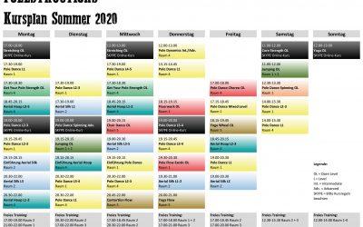 Neuer Kursplan Sommer 2020